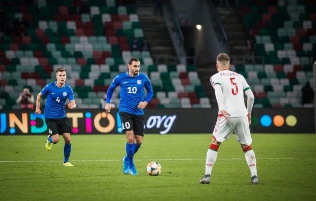 Sergei Zenjov sai mängida tund aega ja tegi seda korralikult. Foto: Jana Pipar / jalgpall.ee