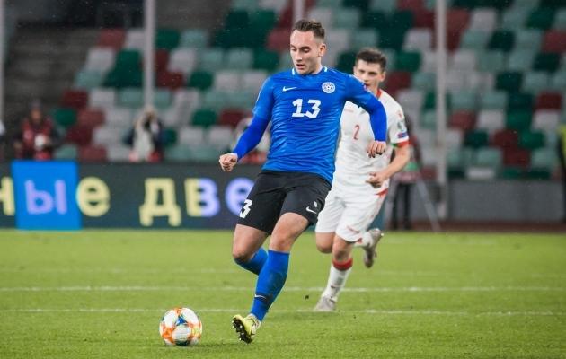 Eesti koondise poolkaitsja Vladislav Kreida. Foto: Jana Pipar / jalgpall.ee