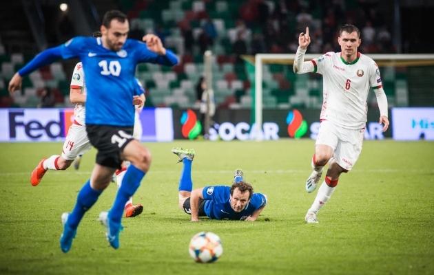 Eesti tegi Valgevenega võõrsil väravateta viigi. Foto: Jana Pipar / jalgpall.ee