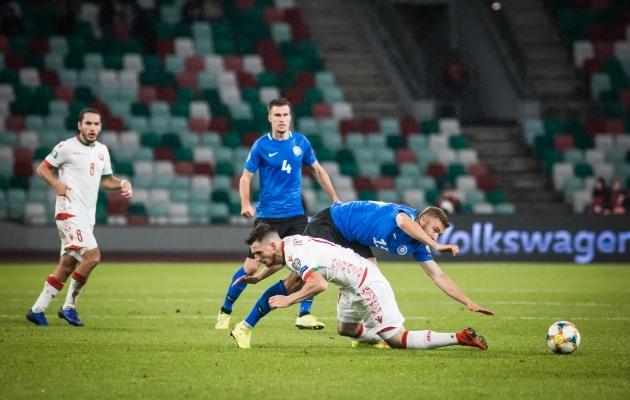 Mängu lõpus ei seisnud me enam nii hästi kui eelnevalt. Foto: Jana Pipar / jalgpall.ee