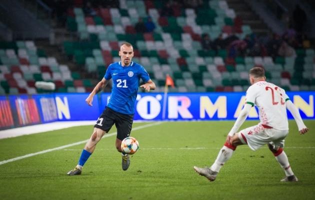 Nikita Baranov naasis pausi järel koondisesse. Foto: Jana Pipar / jalgpall.ee