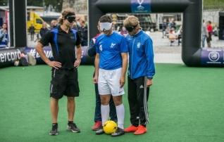 Levadia osales pimedate jalgpalli näidismatšil