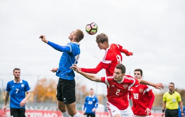 OTSEPILT: EM-valikturniiriks valmistuv Eesti U19 saab Venemaa vastu vigade parandust teha  (0:2)