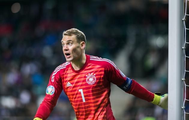 Manuel Neueril Saksamaa väravas polnud kaugeltki muretu tööpäev. Foto: Brit Maria Tael