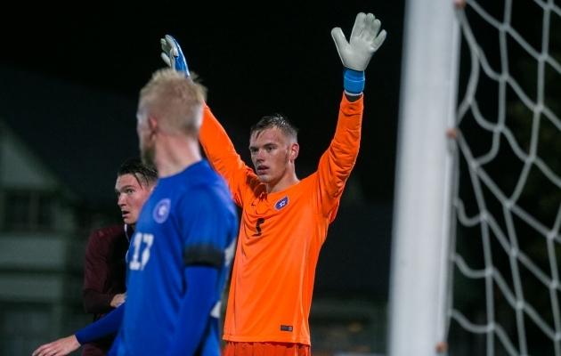 Karl Jakob Hein Eesti U21 koondise EM-valikmängus Läti vastu. Foto: Brit Maria Tael
