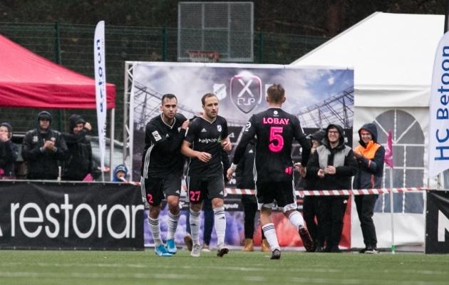 Sander Puri kaks väravat tõid Nõmme Kaljule duellis FC Floraga 2:1 võidu. Foto: Brit Maria Tael