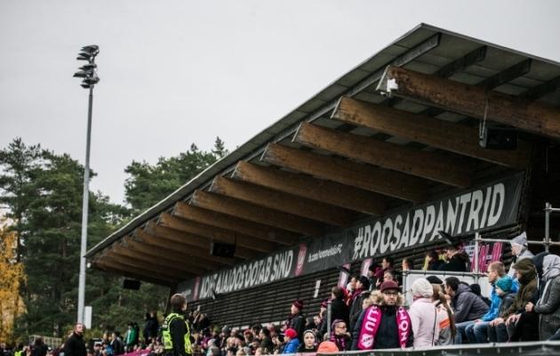 Hiiu staadionil jälgis kohtumist 795 pealtvaatajat. Foto: Brit Maria Tael