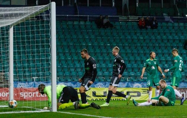 Viimati kohtusid FCI Levadia ja Nõmme Kalju 23. oktoobril Evald Tipneri karikasarja 1/8-finaalis. Levadia asus küll 1:0 juhtima, aga kaotas 1:2. Foto: Oliver Tsupsman