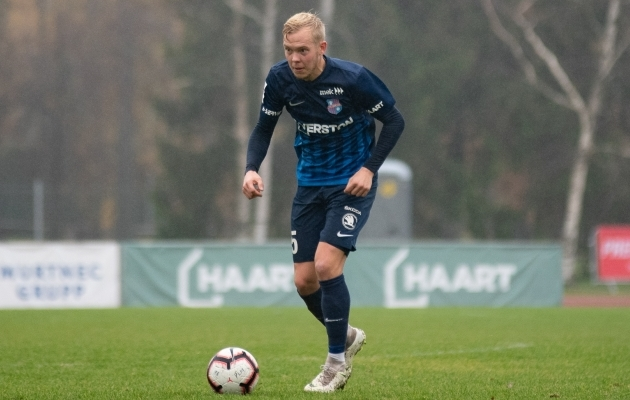 Paide Linnameeskonna poolkaitsja Sander Sinilaid. Foto: Liisi Troska / jalgpall.ee