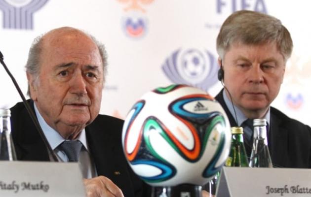 Blatter (vasakul) tõi MM-i Venemaale. Foto: fifa.com