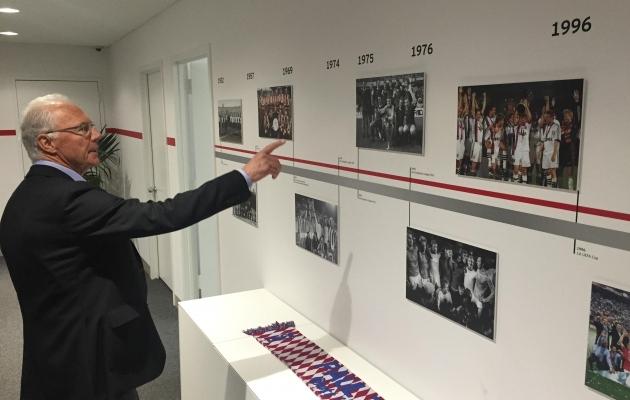 Beckenbauer on oma nime Saksamaa jalgpalliajalukku kirjutanud. Foto: Beckenbaueri Twitter