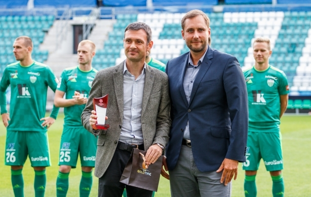 Aleksandar Rogic ja Levadia pidid leppima pisemate autasudega. Foto: Oliver Tsupsman