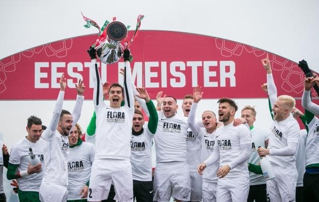 Jalgpallis on ligi kolme kümnendi jooksul tulnud Eesti meistriks seitse eri klubi, ent kõik nad on pealinnast. Foto: Brit Maria Tael