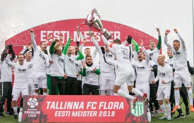 2019. aasta Eesti meister FC Flora. Foto: Brit Maria Tael