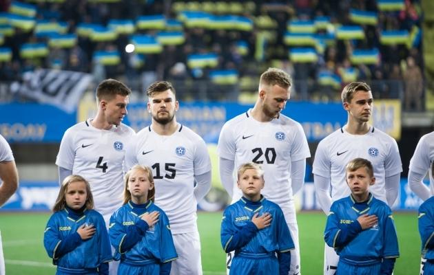 Mattias Käit, Frank Liivak, Mihkel Ainsalu ja Märten Kuusk. Foto: Jana Pipar / jalgpall.ee
