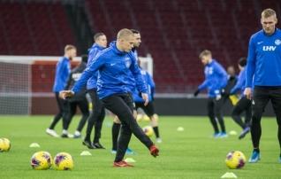 Galerii: Eesti koondis pidas Ajaxi pühamus viimase mängueelse treeningu