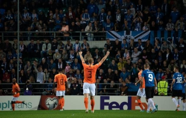 Kui Eesti ja Holland septembris Tallinnas kohtusid, võtsid külalised 4:0 võidu. Foto: Liisi Troska / jalgpall.ee