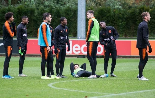Hollandi koondise eilne treening. Foto: Jana Pipar / jalgpall.ee