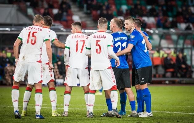 0:0 viigiga lõppenud Valgevene - Eesti kohtumine Minskis. Foto: Jana Pipar / jalgpall.ee