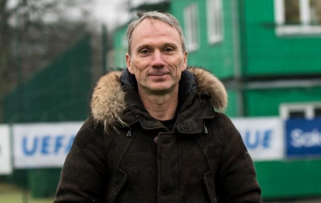 FCI Levadia peatreener Martin Reim Maarjamäel. Foto: Anna Andreas
