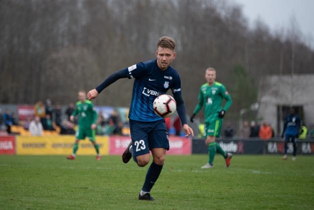 Parim noormängija Henri Välja lõi 31 mänguga 9 väravat ja andis 7 väravasöötu. Foto: Liisi Troska / jalgpall.ee