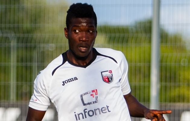Endine FC Infoneti ründaja Manucho. Foto: Gertrud Alatare