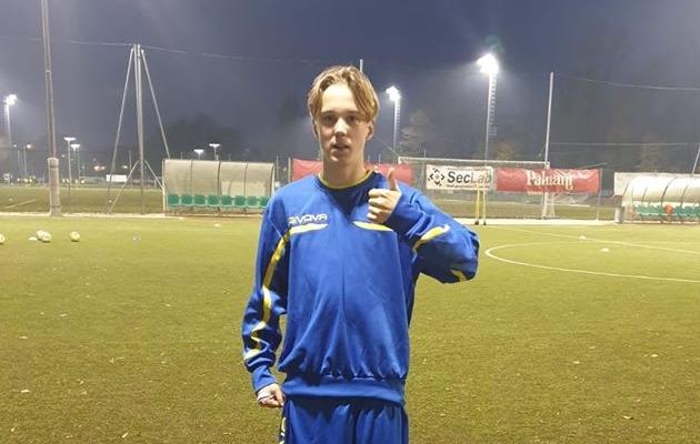 JK Tabasalu noorjalgpallur Romet-Markus Adamson. Foto: JK Tabasalu Facebooki-leht