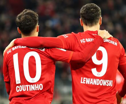 Bayern sõna otseses mõttes lustis Coutinho meistriklassi najal