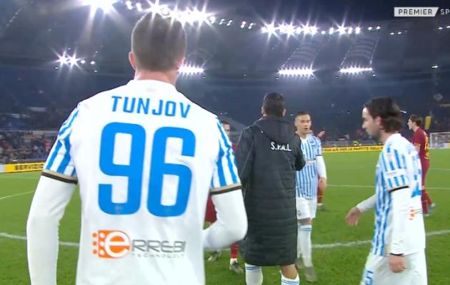 Tunjov tegi Serie A debüüdi AS Roma vastu. Foto: kuvatõmmis