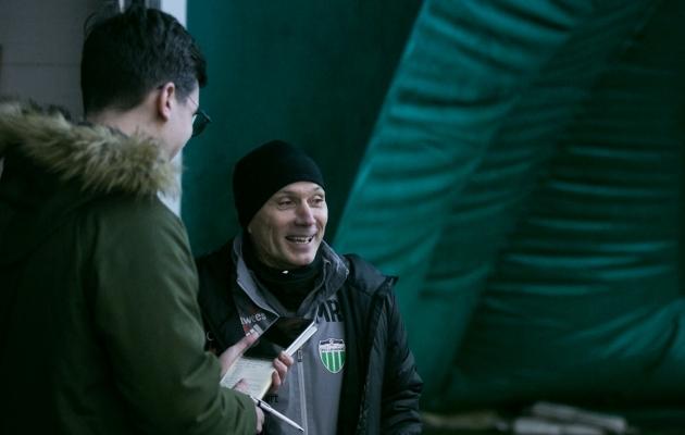 Martin Reim oli treeningu eel heas tujus ja ootusärevuses. Foto: Brit Maria Tael