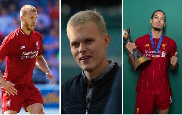 Ragnar Klavan, Ott Tänak ja Virgil van Dijk. Fotod: Liverpooli Twitter ja Liisi Troska / jalgpall.ee