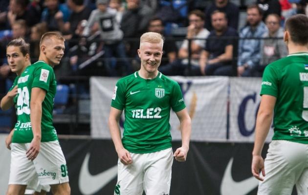Henri Järvelaid lõi finaalis FC Flora kasuks kaks väravat. Foto: Jana Pipar / jalgpall.ee