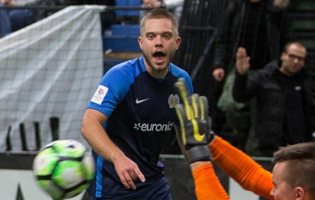 FC Kuressaare poolkaitsja Oliver Rass. Foto: Jana Pipar / jalgpall.ee
