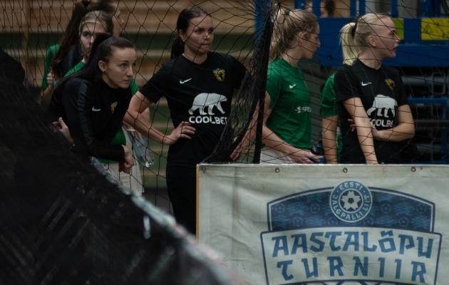 Kristina Bannikova tüüris esi- ja teise liiga aastalõputurniiril Vapruse naiskonna neljandale kohale. Foto: Liisi Troska / jalgpall.ee