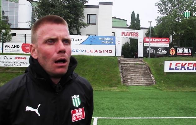 Jalgpallitreener Jaanus Reitel. Foto: kuvatõmmis Kotka TP Youtube'i-videost