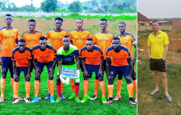 Heroes FC meeskond ja nende värske peatreener Jaanus Reitel. Fotod: Heroes FC Facebook ja Erakogu
