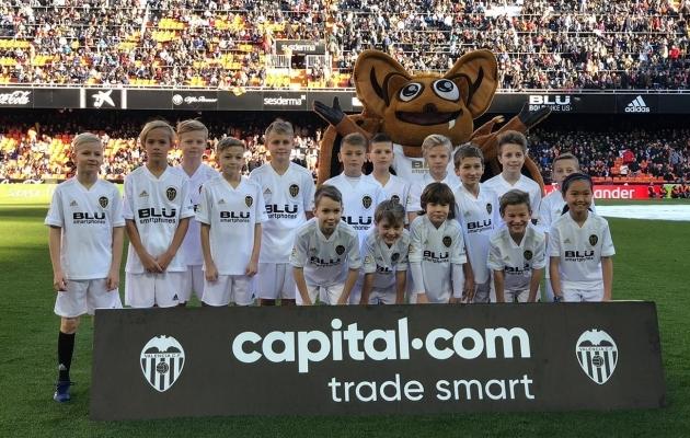 Väikesed vutiharrastajad Valencias. Foto: Valencia CF
