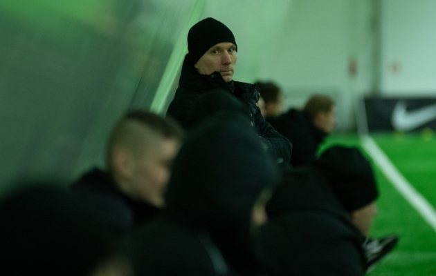Levadia peatreener Martin Reim. Foto: Liisi Troska / jalgpall.ee