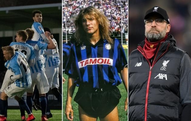 Paide Linnameeskond, Claudio Caniggia ja Jürgen Klopp. Fotod: Liisi Troska, Atalanta Twitter, Liverpooli Twitter