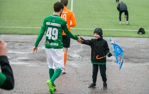 Viimasel Eesti-hooajal kogunes Beglarišvili saldosse 36 mängu, 30 väravat ja 22 söötu. Foto: Brit Maria Tael