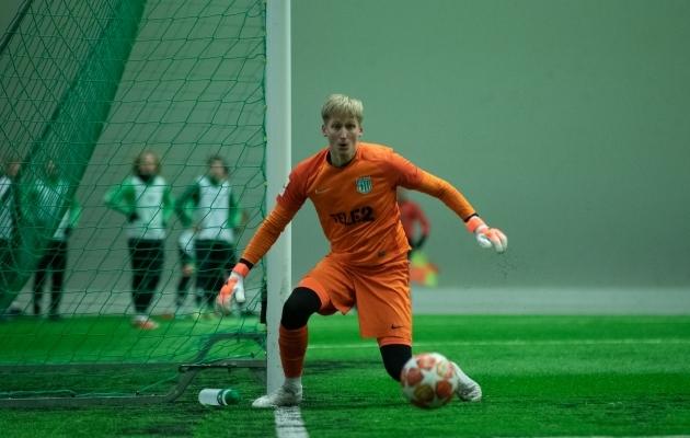 FC Flora väravavaht Richard Aland. Foto: Liisi Troska / jalgpall.ee