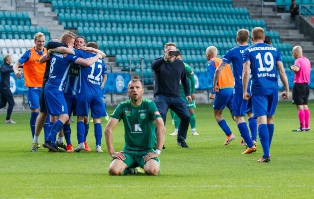 2019. aastal kukkus võõrsil löödud värava reegli alusel eurosarjast välja FCI Levadia, kes kaotas Islandi klubile Stjarnan võõrsil 1:2 ja võitis kodus 2:1. Järgnes lisaaeg, kus Levadia asus 3:1 juhtima, aga vastased viigistasid viimasel üleminutil. Üldskoori 4:4 juures pääses edasi Stjarnan, kes oli löönud võõrsil ühe värava rohkem. Foto: Oliver Tsupsman