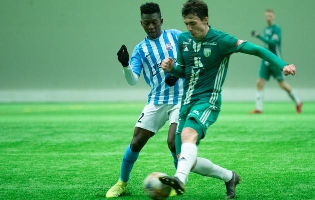 Hadji Drame halliturniiri mängus Levadia vastu. Foto: Liisi Troska / jalgpall.ee