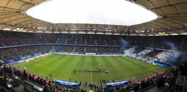 Hamburg SV ja Karlsruhe kohtumine 8. veebruaril. Foto: Hamburg SV Twitter