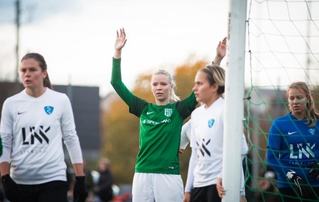 Liis Lepik eelmise hooaja viimases mängus. Foto: Jana Pipar
