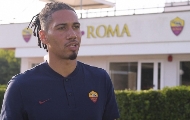 Chris Smalling. Foto: AS Roma Twitter