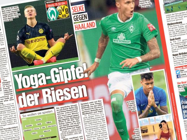 Bild pani Werderi mehed Haalandi eeskuju järgima. Foto: Bild (kuvatõmmis)