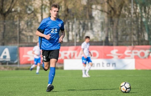 Erko Jonne Tõugjas on üks neist U17 koondise poistest, kellele Martin Klasen ennustab kõrget lendu. Foto: Brit Maria Tael