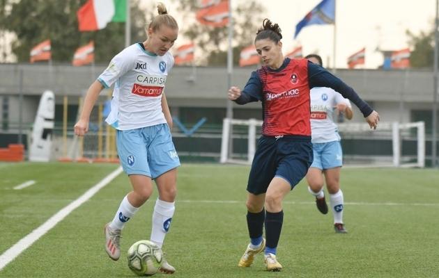 Lisette Tammik Napoli naiskonna ridades Serie B-s mängimas. Foto: ASD Napoli Calcio Femminile