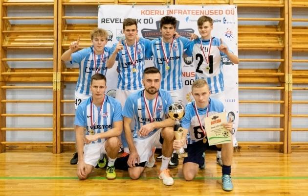 1. koha võitnud Paide Linnameeskond. Foto: jalkafoto.com